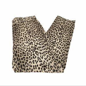 Liz Claiborne Animal Print Jeans, Brown, Tan, 10
